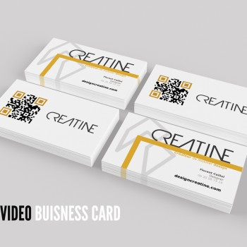 carte de visite QR code video creatine